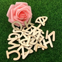 Happymems 52pcs/set 3-4cm A-Z English Cute Words For Birthday Party Wood Letter DIY Crafts Decoration Wooden