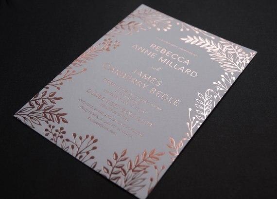 aliexpress com buy elegant rose gold foil print floral leaves