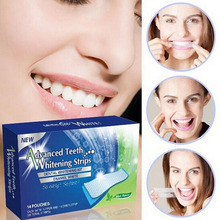 28pcs Advanced Teeth Whitening Strips Gel Professional Blanqueador Dental Material Tooth Whitener 3D White Care Oral