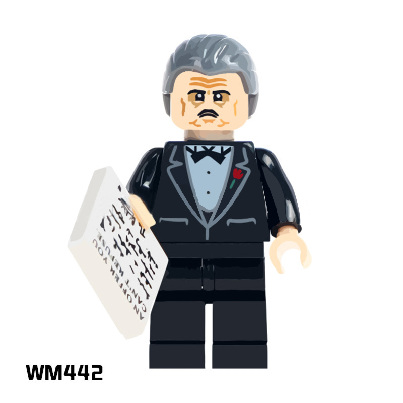 50PCS WM442 The Godfather Gangster Film Super Heroes Action Figure Set Medol Building Brick Toys Children