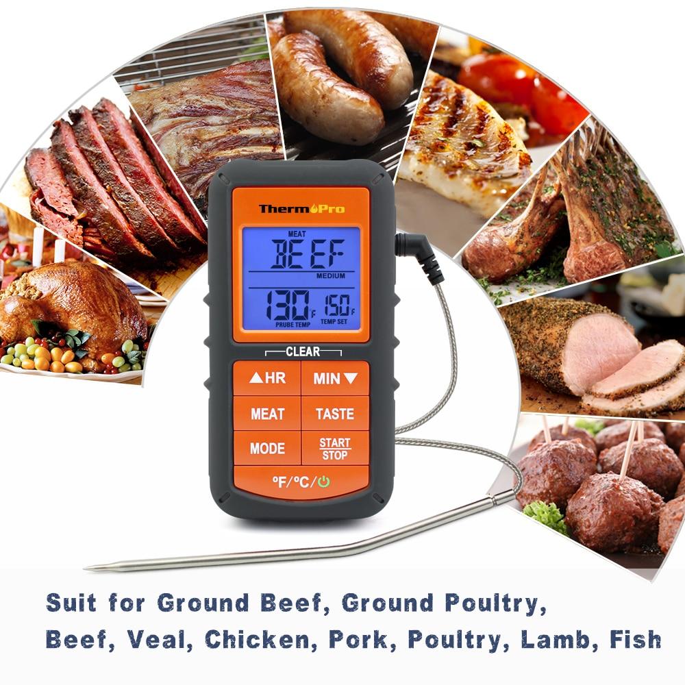Image 2 - Термопро TP 06S Цифровой зонд печь и термометр для жарки с таймером для барбекю/гриль/мясо/кухня приготовления пищи-in Датчики температуры from Дом и животные