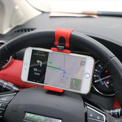 Yeesite universal volante do carro clipe de montagem titular para o iphone 8 7 plus 6s samsung xiaomi huawei telefone móvel gps