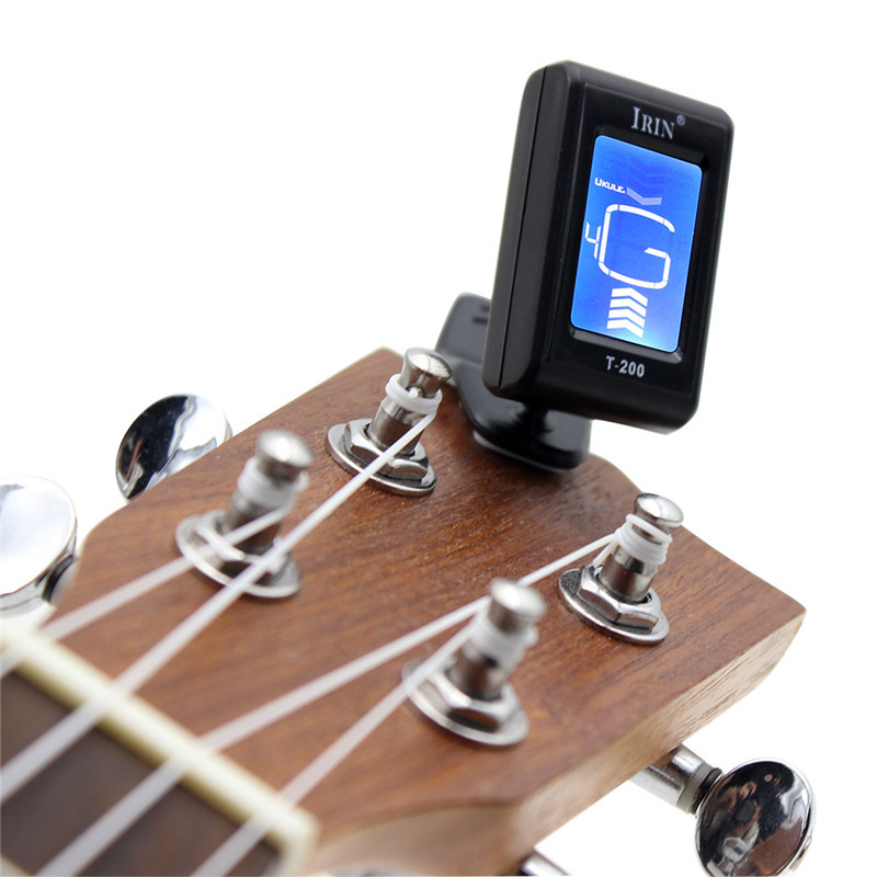 mini portable clip on digital electric ukulele guitar tuner pedal lcd 12 strings tuner machine accessories guitar tuner in Guitar Parts Accessories from Sports Entertainment