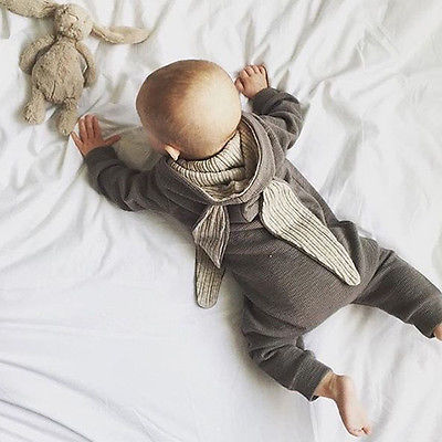 160739add881b Newborn Infant Baby Girl Boy Ear Romper Jumpsuit Outfits Costume unisex  newborn creepers jumpsuits baby Rompers Tags: