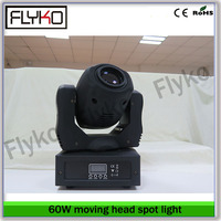 Free shipping 60w led moving head spot light led gobo project double gobo wheel