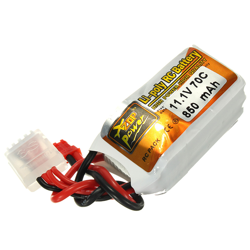 Rechargeable Lipo Battery ZOP Power 11.1V 850mah 70C 3S  Lipo Battery JST Plug rechargeable lipo battery zop power 7 4v 400mah 60c 2s lipo battery jst plug