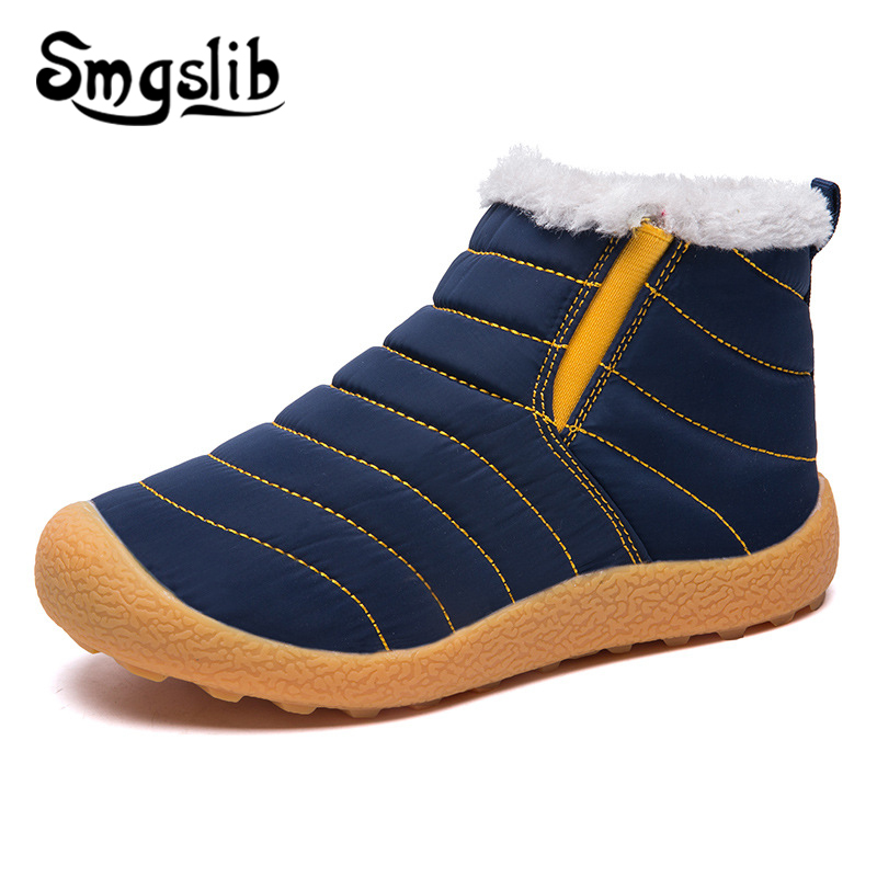 Kids Snow Boots Girls Winter Shoes 2019 Children Warm Shoes Kids Snow Boots Waterproof Boys Toddler Teenager Sneaker