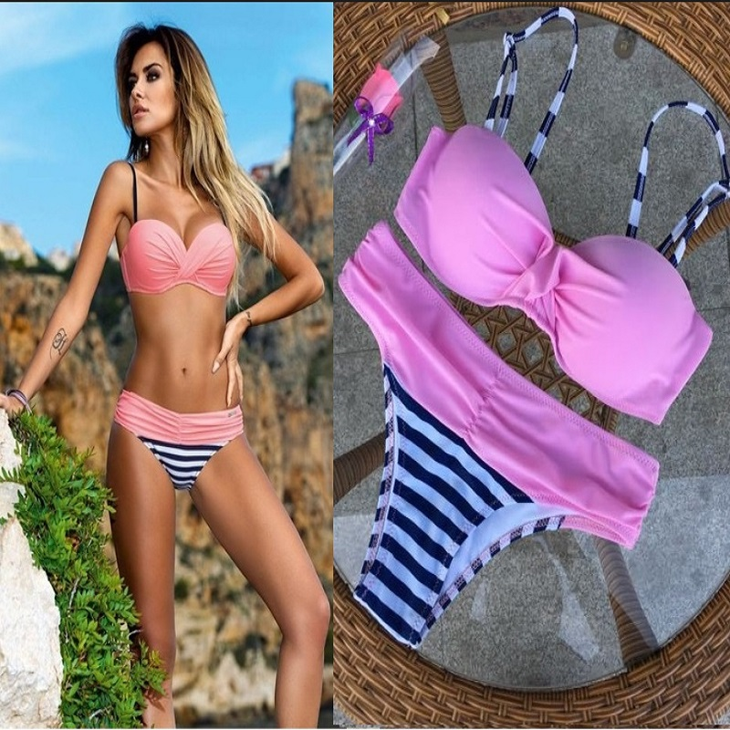 bikini 2017 new sexy women swimwear brazilian Bikinis biquini Swimsuit beach swimming suit bathing suit push up halter maillot bikini 2017 sexy swimsuit 5 color halter top female swimwear women beach bathing suit swim push up brazilian bikinis set biquini