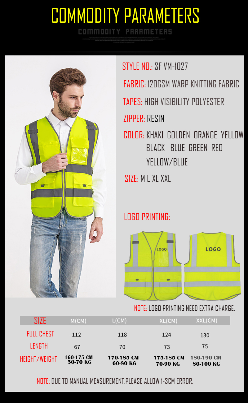 CW/_ KF/_ Reflective Stripe Traffic Safety Guard Vest Auto High Night Visible Top