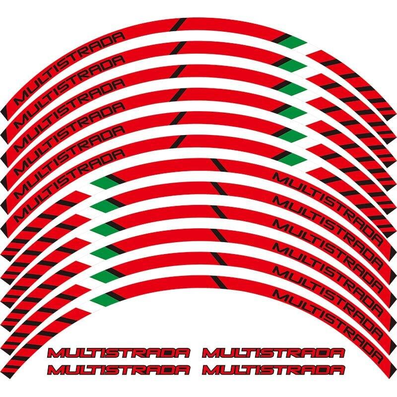 Наклейки на колеса мотоцикла светоотражающие наклейки обода полосы для DUCATI MULTISTRADA 1260 1200 1200 s