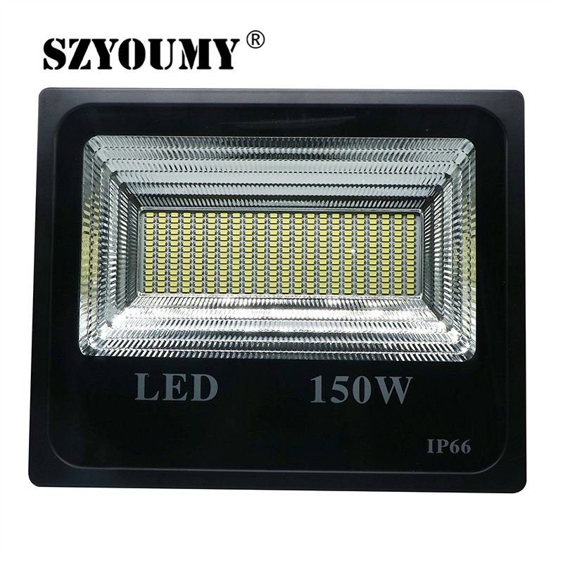 SZYOUMY 150W LED Solar Floodlight Super Bright Spotlight Waterproof Light Garden Lighting Double Color Street Lamp