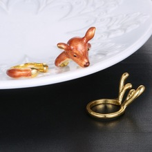 Hot 3pcs/set Gold Plated Animal Deer Rings for Women