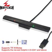 MayFlash беспроводной игровой контроллер с датчиком дельфинбар для Wii дистанционный для Windows ПК по Bluetooth для GC