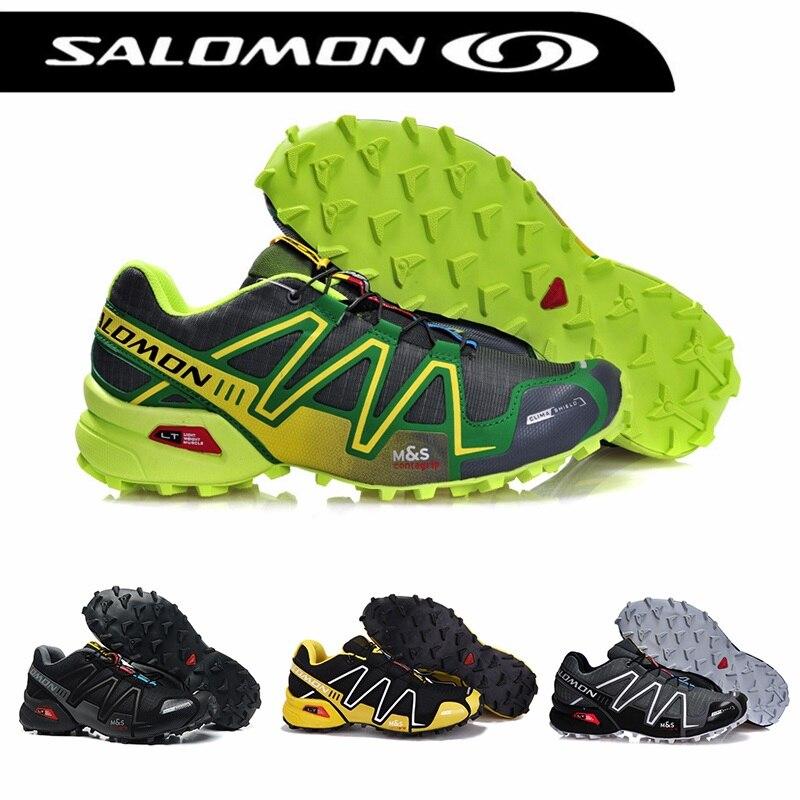 סלומון Speedcross 3 CS גברים של נעליים חיצוניות לנשימה סולומון ריצת Zapatillas Hombre Mujer זכר ריצה נעל