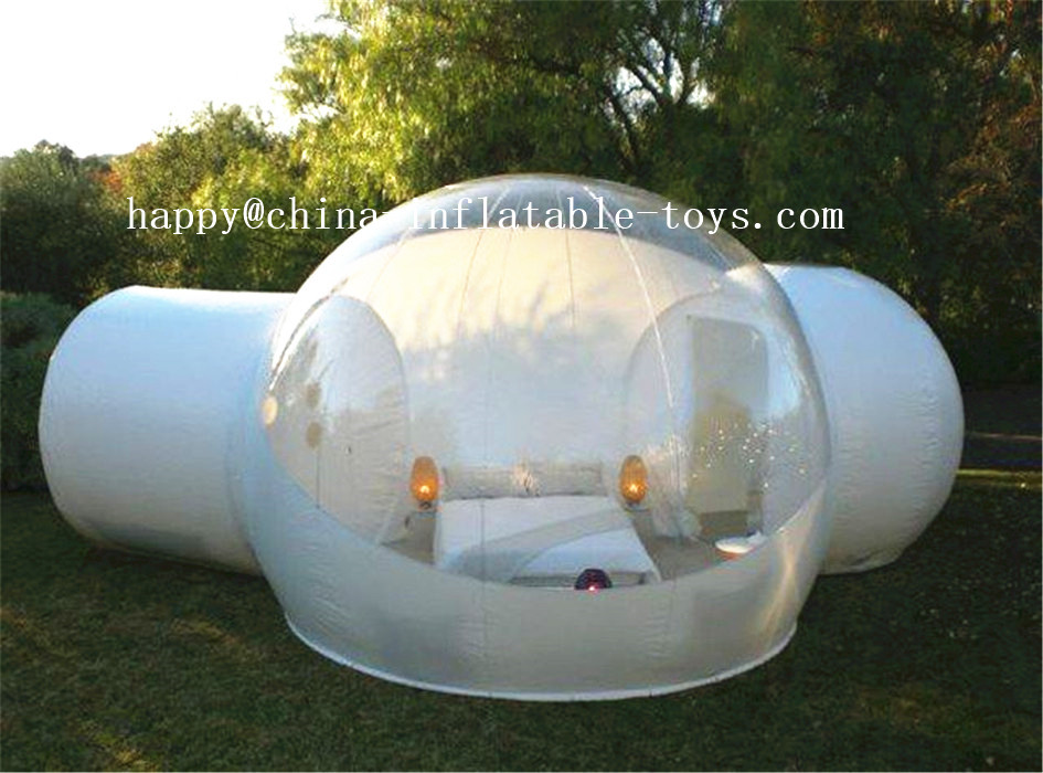 Outdoor Camping Transparent Bubble Tent Cheap Clear Lawn Inflatable Dome Tent Inflatable Bubble Room , Wedding Tents For Sale  big inflatable lawn tent transparent pvc inflatable bubble tent for hotel use
