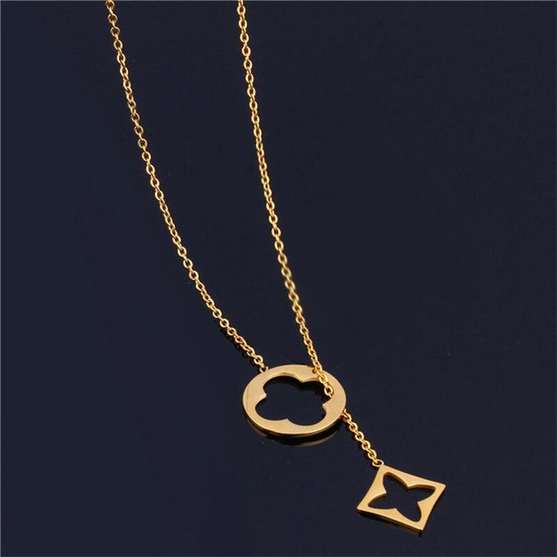 Ювелирная цепочка из нержавеющей стали, Индивидуальный Женский чокер, Золотая Длинная подвеска, ожерелье для женщин, чокер, ожерелье аксессуары