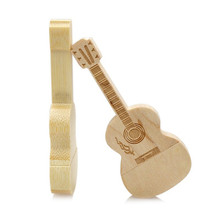 2017 Creative gift Musical Instrument Guitar memory unit wooden music usb flash drive