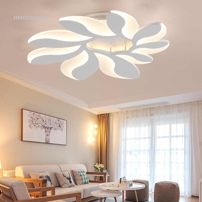 Modern simple living room ceiling lamp personalized creative flower warm and romantic bedroom led remote control  Ceiling lights