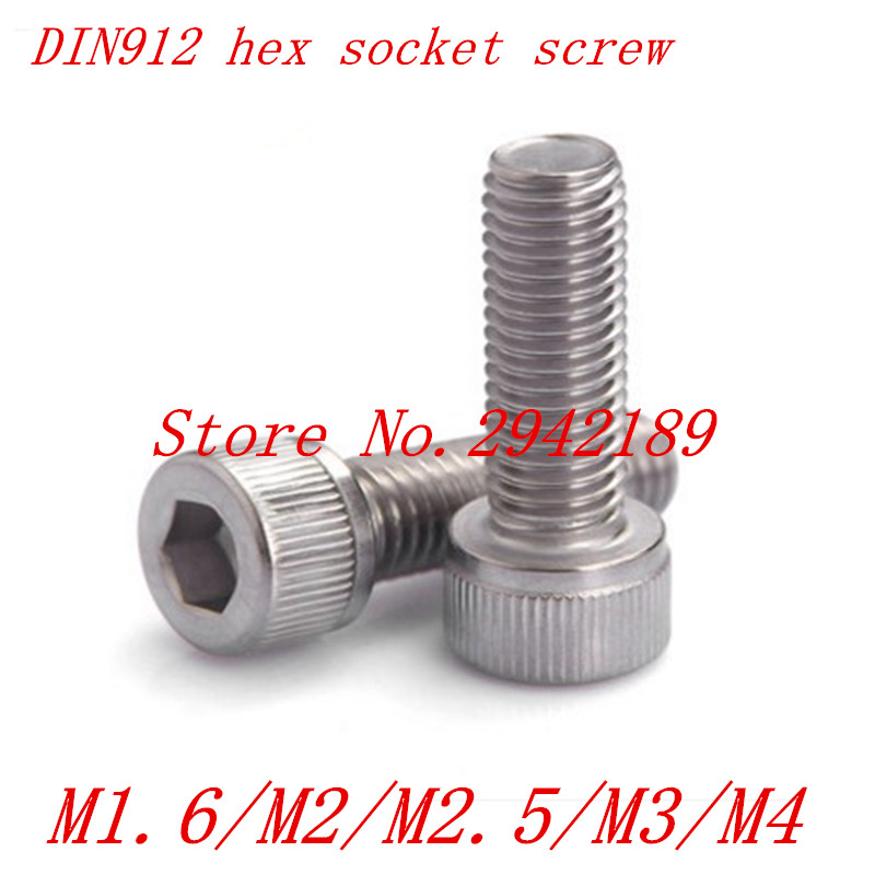50pcs/Lot a2-70 DIN912 M1.6 m2 m2.5 m3 stainless Steel Hex Socket Head Cap Screw Bolts 50pcs iso7380 m2 m2 5 m3 a2 stainless steel hex socket button head screw screws