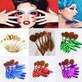 10PCS Per Set Toothbrush Shape Oval Makeup Brush Set MULTIPURPOSE Professional Foundation Powder Brush Kits With Box