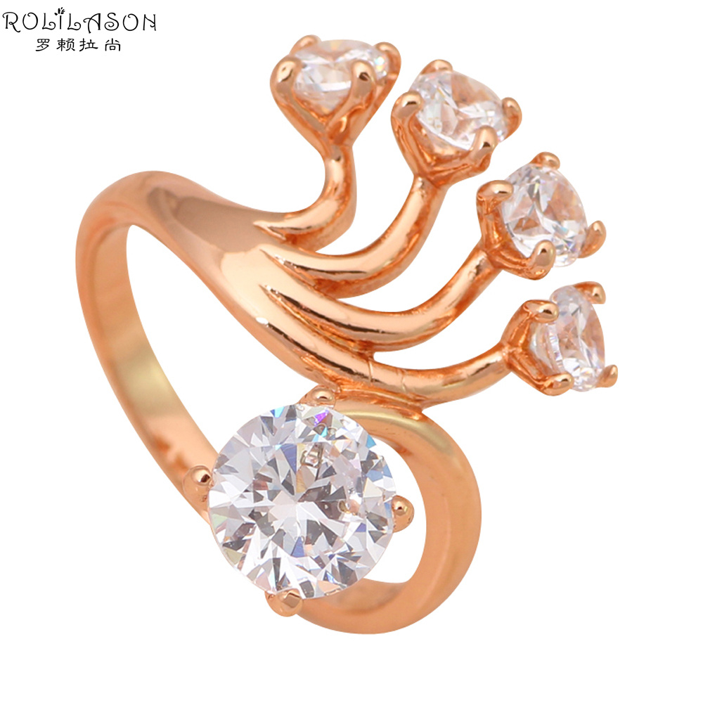 Big Exaggerated ring Rose Gold tone Fashion Jewelry Australia
