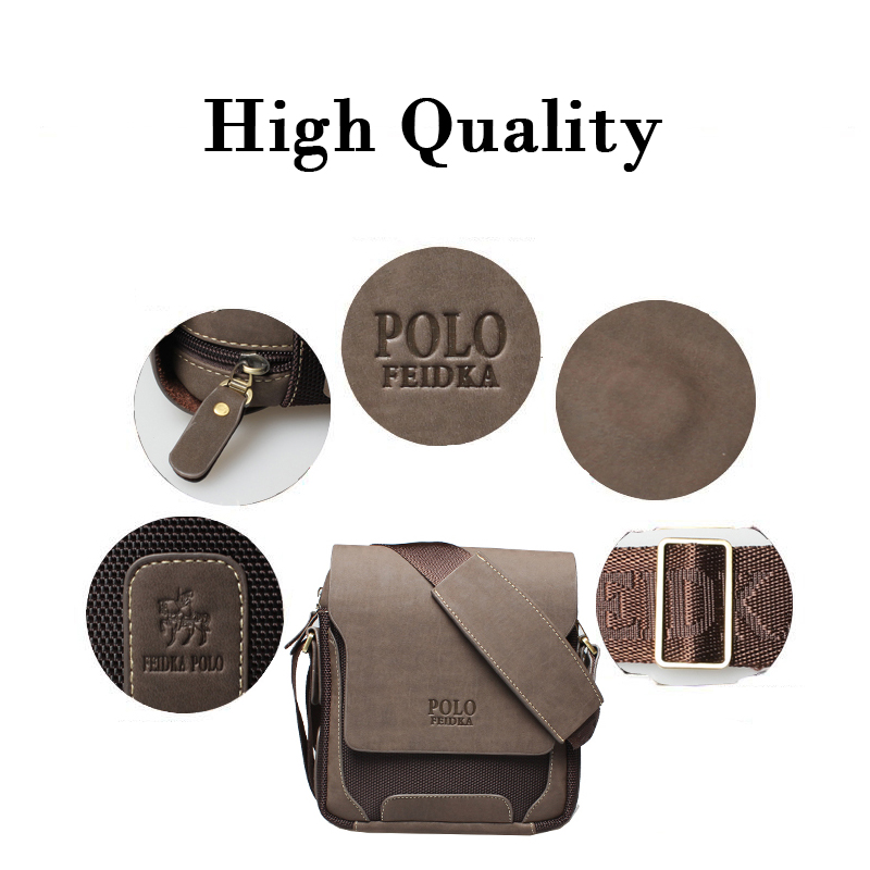 4cd6d85076 Men Polo Brand High Quality Crossbody Messenger Bag Luxury Retro PU Leather Shoulder  Bags Fashion Simple Casual Durable Satchel-in Crossbody Bags from ...