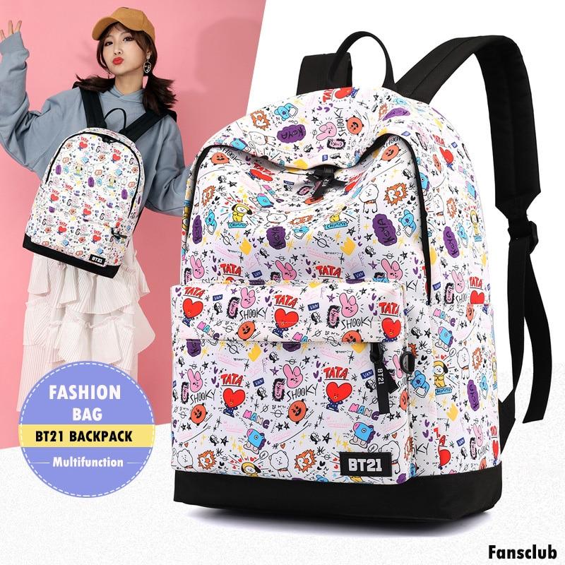 Backpack Cute Cartoon Anime Shoulder Bag for Teenagers Hip Hop School Bag Mochila Laptop accessories Backpack BJN032