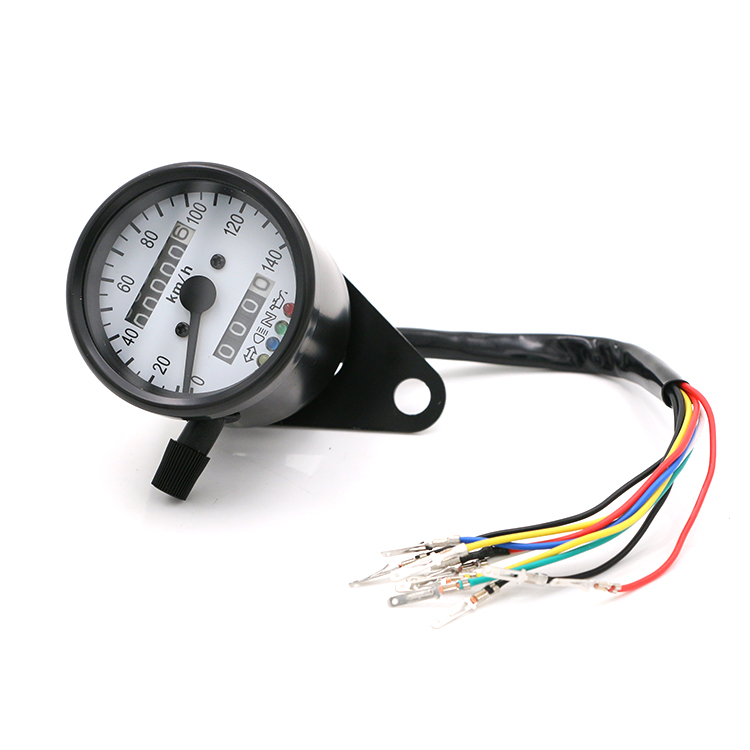 Motorcycle LED Backlight Signal Odometer KMH Speedometer Gauge Cafe Racer Old School Bobber Touring Custom old school motorcycle gauges