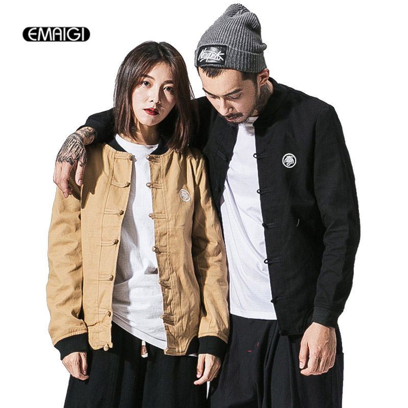 Autumn Winter New Men Jacket Chinese Style Couple Coat Male Fashion Casual Outerwear Coat Size M