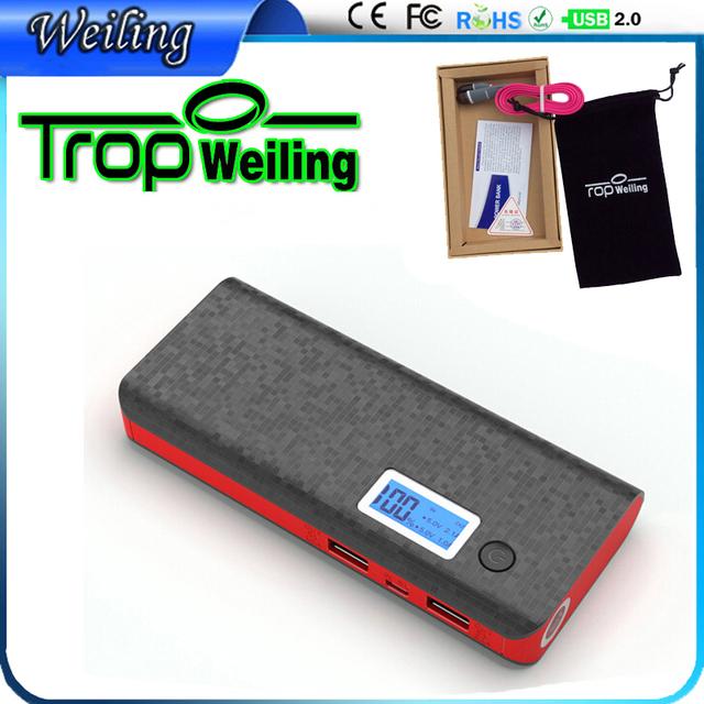 Pover Tropweiling 18650 caixa de banco do poder 10000 mah banco carregador portátil do telefone móvel carregador de bateria para telefones