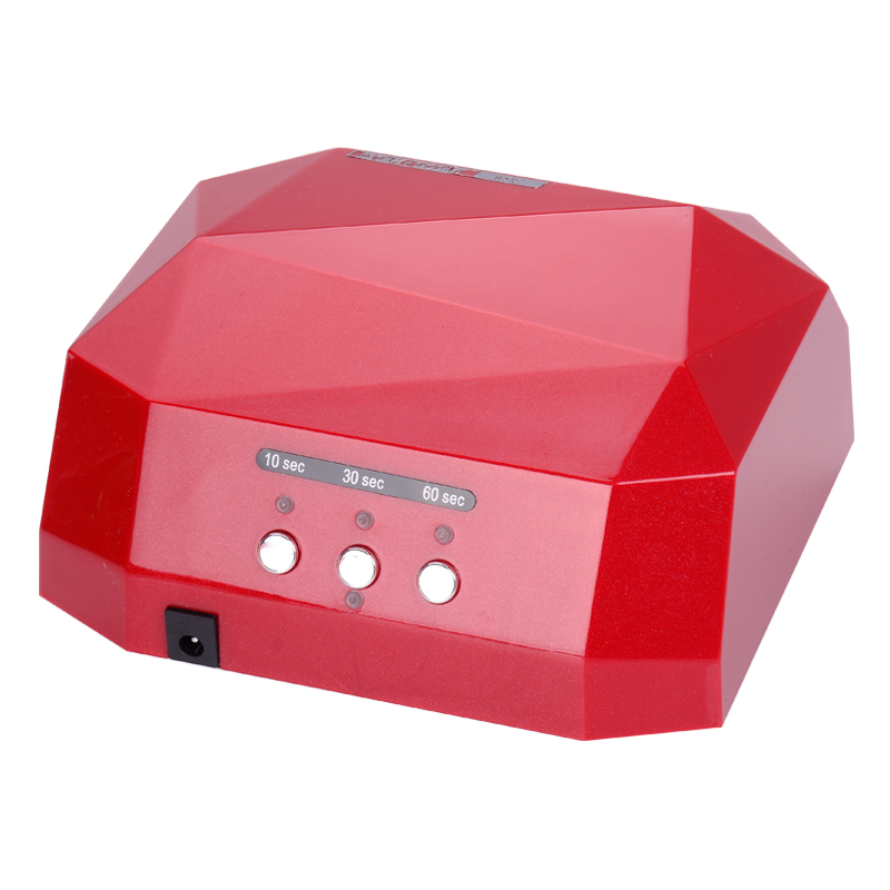 Free Shing 36W Automatic sensor LED UV Nail Dryer Nail Lamp Diamond Shaped CCFL Curing for UV Gel Nails Polish Nail Art Tools auto sensor uv lamp 36w led lamp nail dryer gel nail lamp curing for light nail dryer polish nail tools diamond shaped