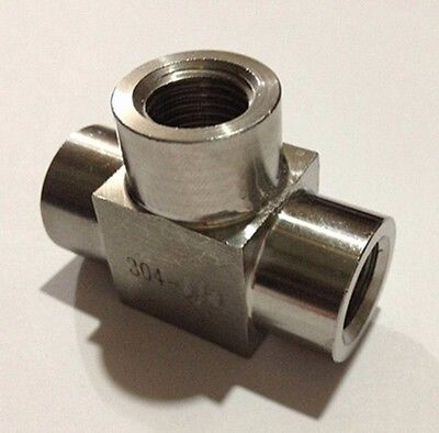 Equal 1 BSP Female Threaded Tee 3 Way 304 Stainless Steel Pipe Fitting Connector Adapter  Max Pressure 2.5 MpaEqual 1 BSP Female Threaded Tee 3 Way 304 Stainless Steel Pipe Fitting Connector Adapter  Max Pressure 2.5 Mpa