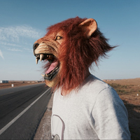 Horsehead Lion Pig Sheep Dog Rabbit Monkey Cat Orangutan Tree Lazy Kangaroo, Rooster Animal Mask Halloween Mask
