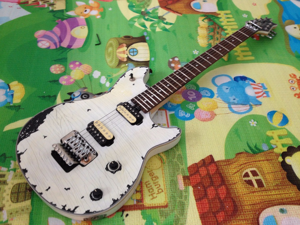 Hot sell EVH wolfgang  electric guitar relic 100%  handmade white color new arrival matte black finish wolfgang evh electric guitars chinese solid guitar body