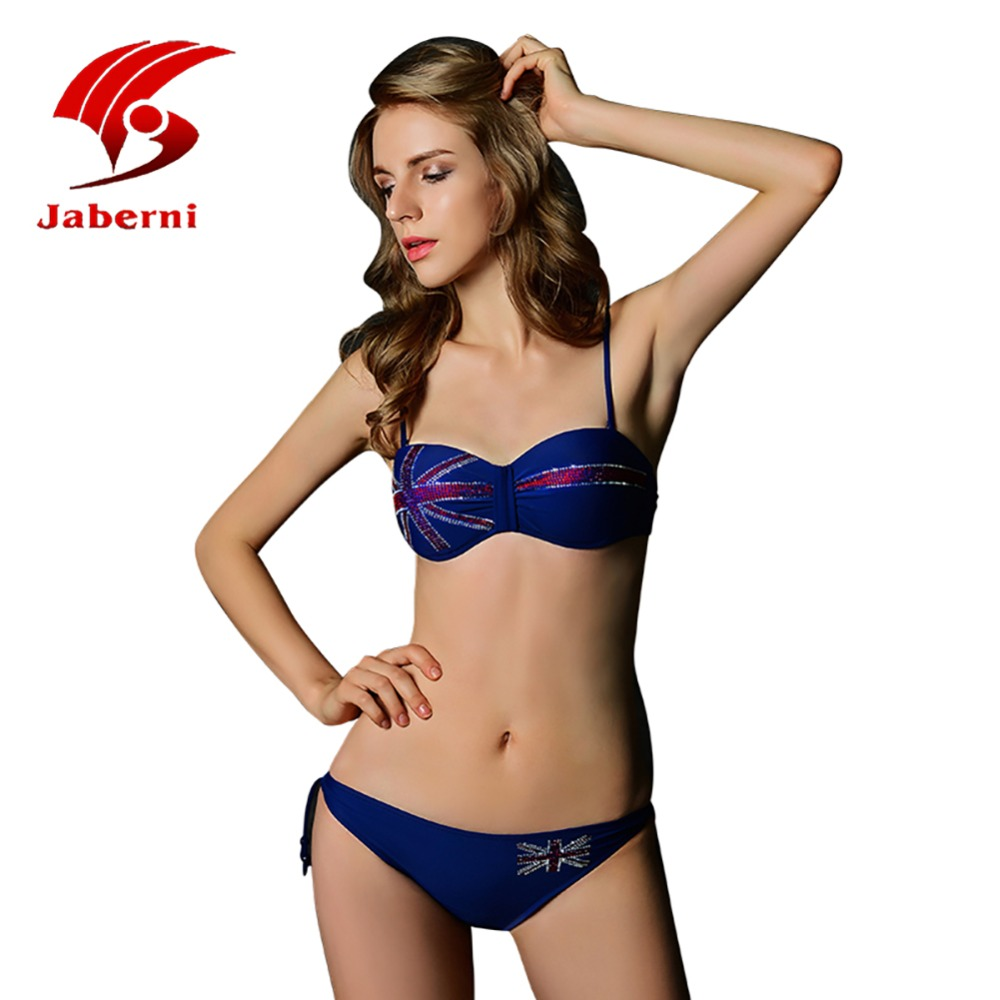 Solid Color Strap Swimwear Women Brand USA flag Bikini Set girl Swim Suit Beachwear Swimsuit Bathingsuit Push Up Bikini AL18008