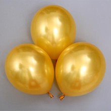 Gold balloon 50pcs/lot12 inch thick 3.2g pearl helium ballon birthday party decorations adult Baloons for decor wedding supplies