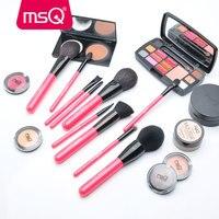 MSQ 10pcs Pro Makeup Brush Set Rose Gold Powder Foundation Eye Make Up Brush Set Soft