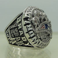 Free Shipping Copper Material 2014 2015 New England Patriots XLIX Super Bowl Replica Championship Rings As
