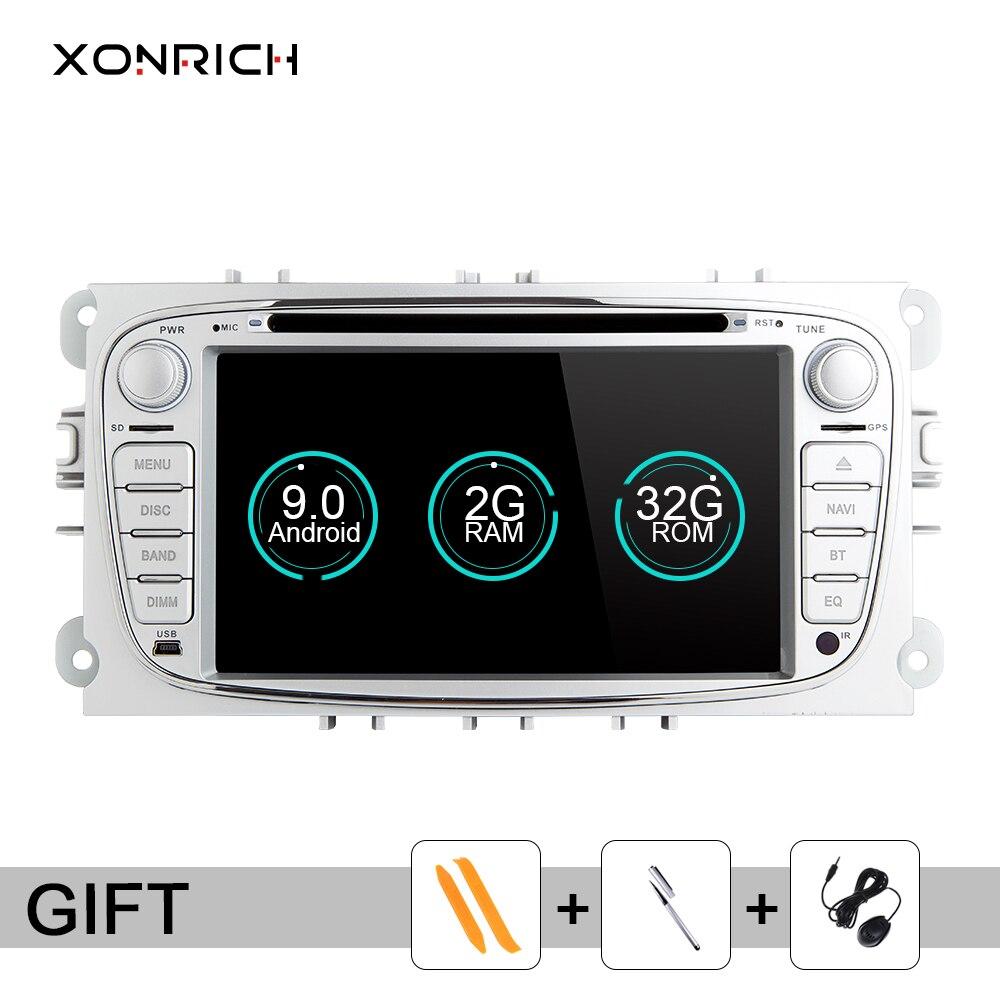 Xonrich 2 Din Android 9 Radio samochodowe GPS samochodowy odtwarzacz multimedialny dla FORD/Focus 2 3 s-max/Mondeo 4 C-MAX/Galaxy Kuga nawigacja IPS4G