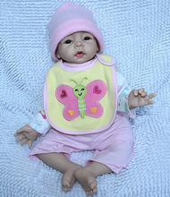 22″ Lifelike Reborn Baby Alive Soft Silicone Interactive Newborn Girl Dolls for Gift Kids Playhouse Toys