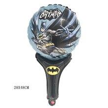 1 шт. шарик с ручкой Бэтмен алюминиевые фольги Воздушные шары День рождения украшения Детские игрушки поставки globos