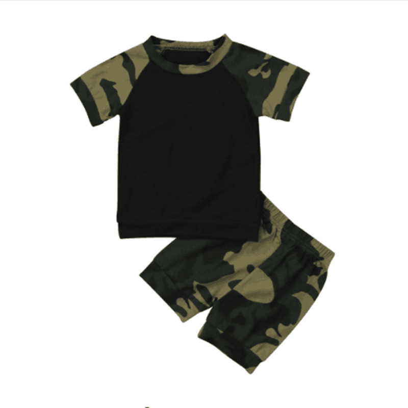 2016 Newborn Kids Camouflage Set Baby Boys Long Sleeve Clothes T-shirt Tops+Long Pants Autumn Spring Outfit Set