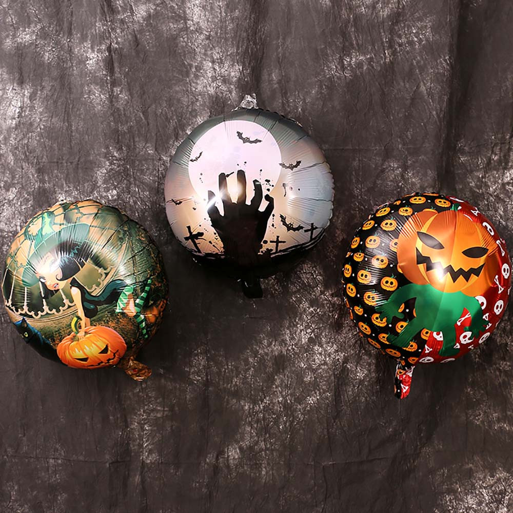 hot sale 10pcs diy halloween decoration balloon halloween pumpkin 18 inch aluminum film balloon halloween decoration - Halloween Decoration Sales