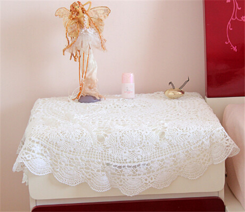 Manual Crochet Round White Tablecloth Round Table Decorative Floral Pattern  90*90 Cm Z69 In Tablecloths From Home U0026 Garden On Aliexpress.com   Alibaba  Group