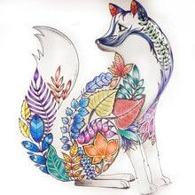 Livre de coloriage pour adultes, 4 pièces, 24 pages, mandalas de la forêt enchantée, animaux, dessin, Art, coloriage