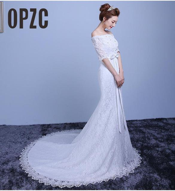 Hot Sale New 2018 Luxury Wedding Dresses Mermaid Trailing red White ...