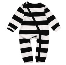 Pudcoco Baby Boys Clothes Zip Up Sleeper Long Sleeve Striped Infant Newborn  Sleep and Play Suit 75481bde8