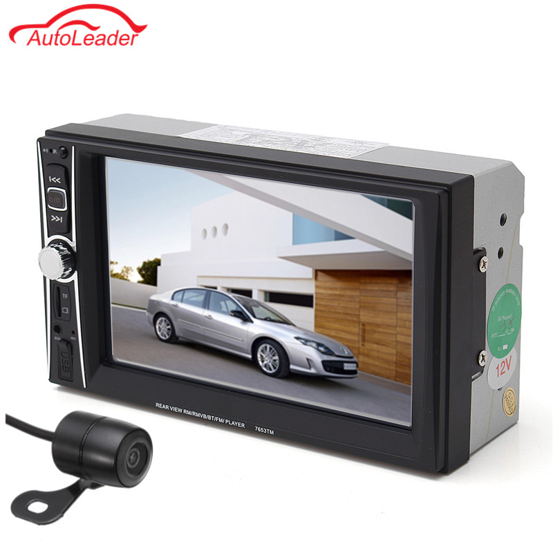 Universal 7 Inch 2 DIN Car Audio Stereo Player 7018B Touch Screen Car Video MP5 Player TF SD MMC USB FM Radio Hands-free Call car gps navigation 7 inch 2 din touch screen auto car fm radio stereo mp5 player support hands free calls 420tvl ir camera
