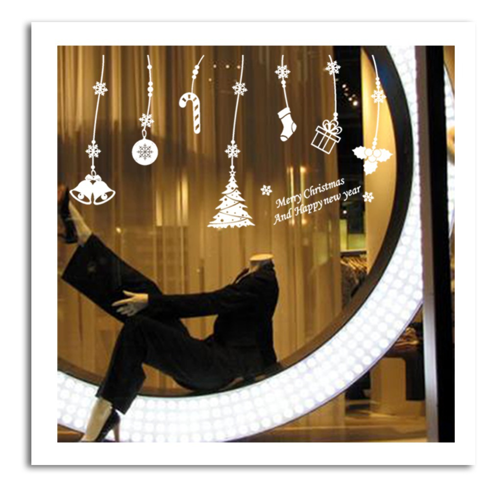 Merry Christmas Xmas Decorations Window Wall Sticker For Decor Xmas02 In Stickers From Home Garden On Aliexpress