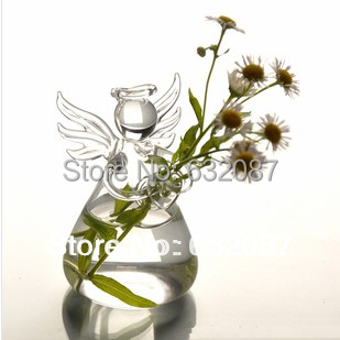 BTS005 18pcs/pack Small Size Glass Angel Vase Home Decoration Creative Festival Girl Friend Gift Party Live Decorative